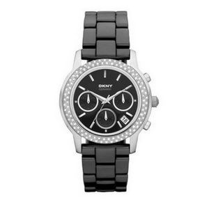 DKNY NY8533 Black Band Analog Black Dial Watch